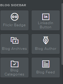 Weebly sidebar elements