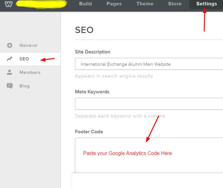 Add Analytics Code on Weebly Website