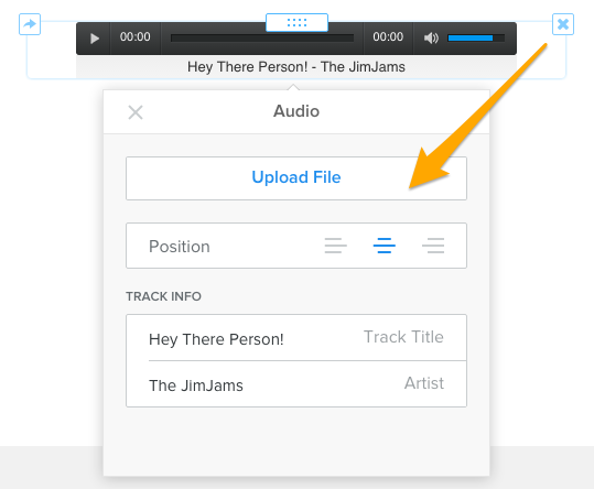 Upload Music to Weebly Audio Player