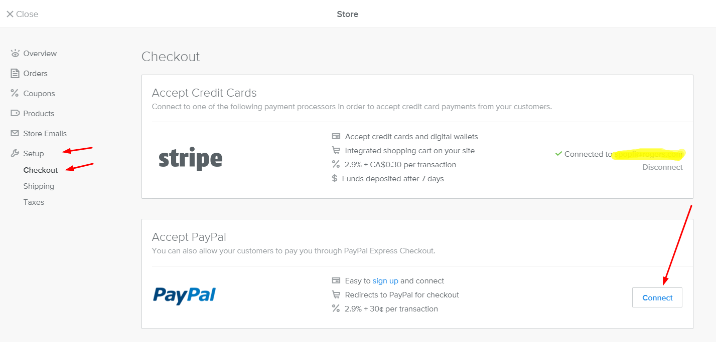 Add PayPal to Weebly