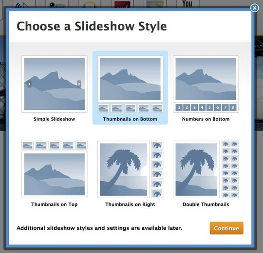 choose Weebly slideshow