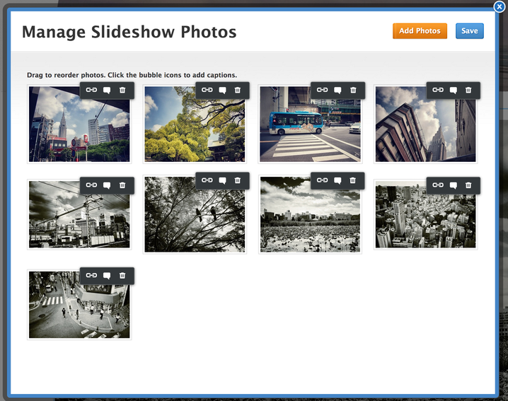 Manage Weebly slideshow