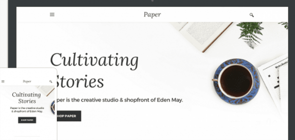 Paper weebly theme