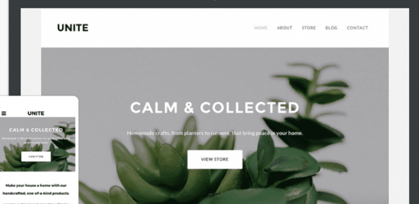 Unite free weebly theme