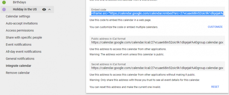 Add Google Calender to Weebly 3