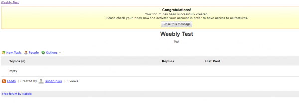 Free Weebly Forum