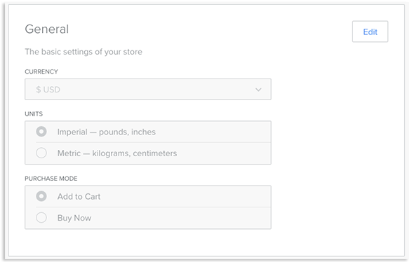 Weebly Store Information