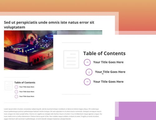 How to Create a Table of Content in Weebly Posts and Pages