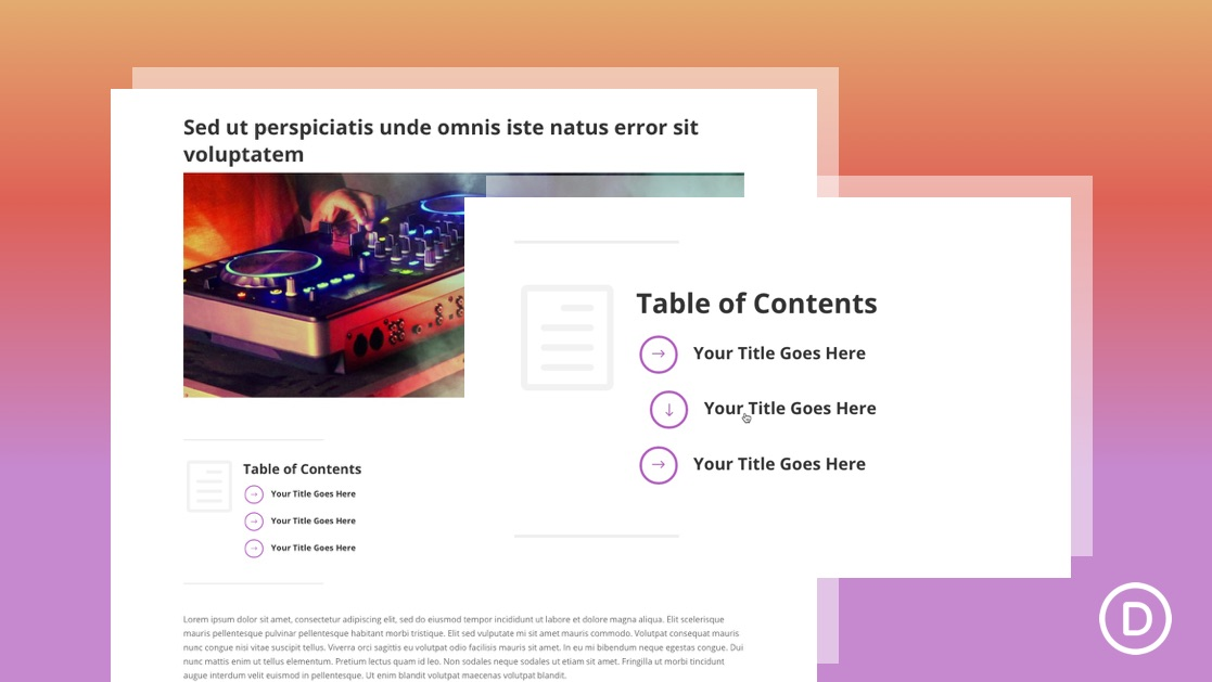 Create a Table of Content in Weebly