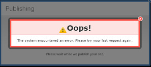 Weebly System Error