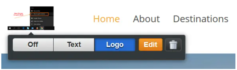 Logo in Weebly